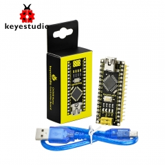 Free Shipping 1pcs Keyestudio CH340 Nano Controller Board + USB cable For Arduino DIY Programing