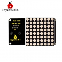 Keyestudio Easy Plug RJ11  8*8 LED Dot Matrix Module 180 degree Interface for Arduino STEM