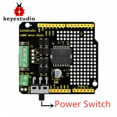 Updated Version  Keyestudio  L298P Shield With Power Switch  For Arduino UNO R3