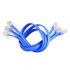 New!5pcs 30cm Blue RJ11 Easy-plug Connection Cable with Crystal Port for  Easy-plug board / Easy-plug sensor